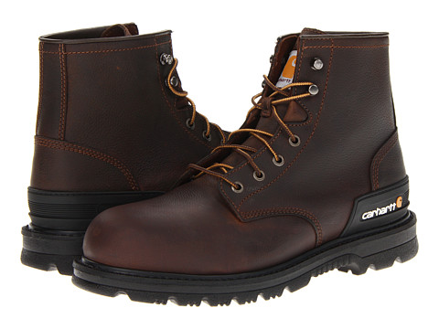 Carhartt - 6 Unlined Work Safety Toe (Dark Brown Oil Tan) Men's Work Boots
