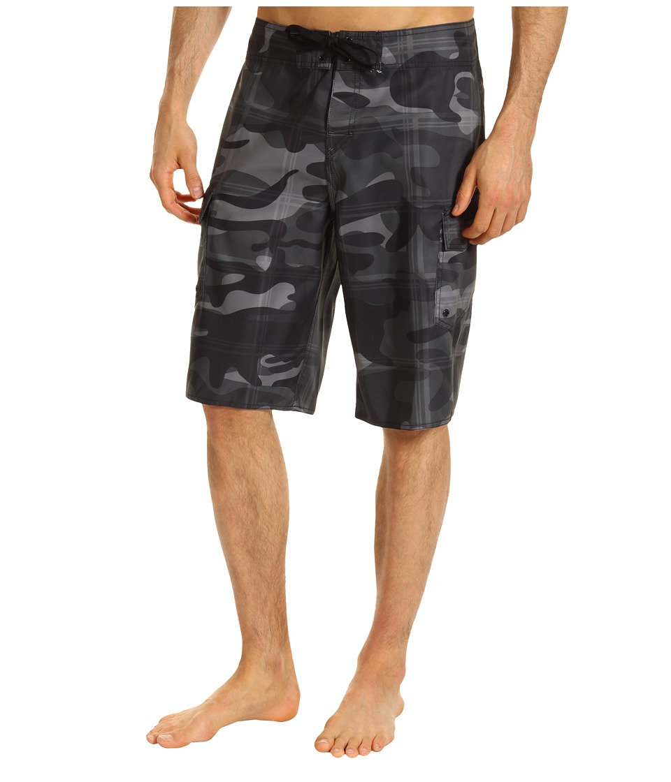 Quiksilver - Manic Plamo Boardshort (Gunsmoke) Men's Swimwear