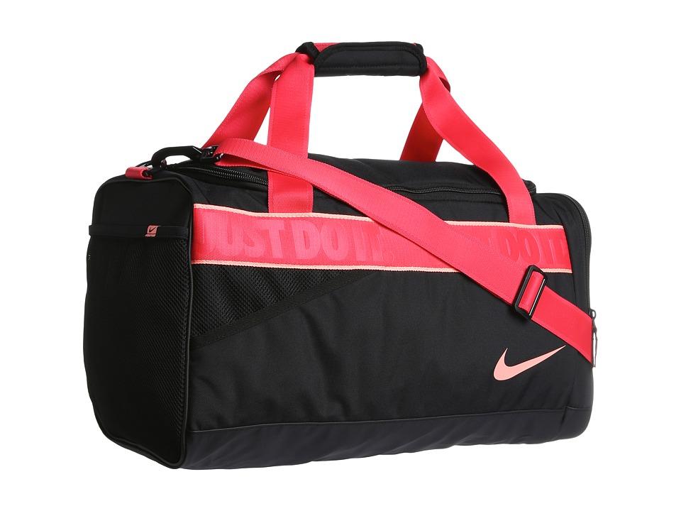 Nike - Varsity Duffel (Black/Black/Atomic Pink) Duffel Bags