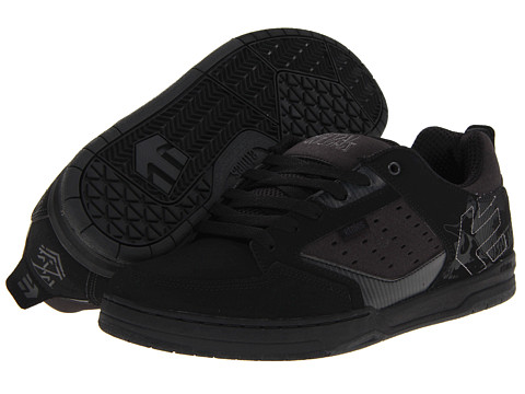 etnies - Metal Mulisha Cartel (Black/Dark Grey) Men's Skate Shoes
