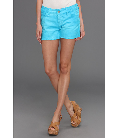 Mavi Jeans - Emily Cut-Off Boyfriend Short in Turquoise Neon (Turquoise Neon) Women