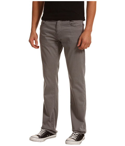 Mavi Jeans - Zach Regular Rise Straight Leg Twill (Grey Twill) Men