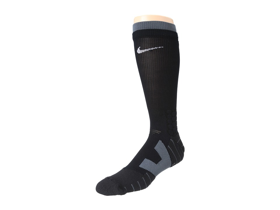 Nike - Vapor Football Crew (Black/Flint Grey/White) Crew Cut Socks Shoes