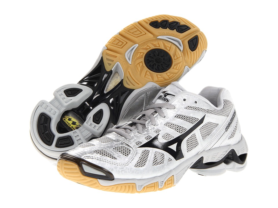 Mizuno - Wave Lightning RX2 (Silver/Black) Women's Volleyball Shoes