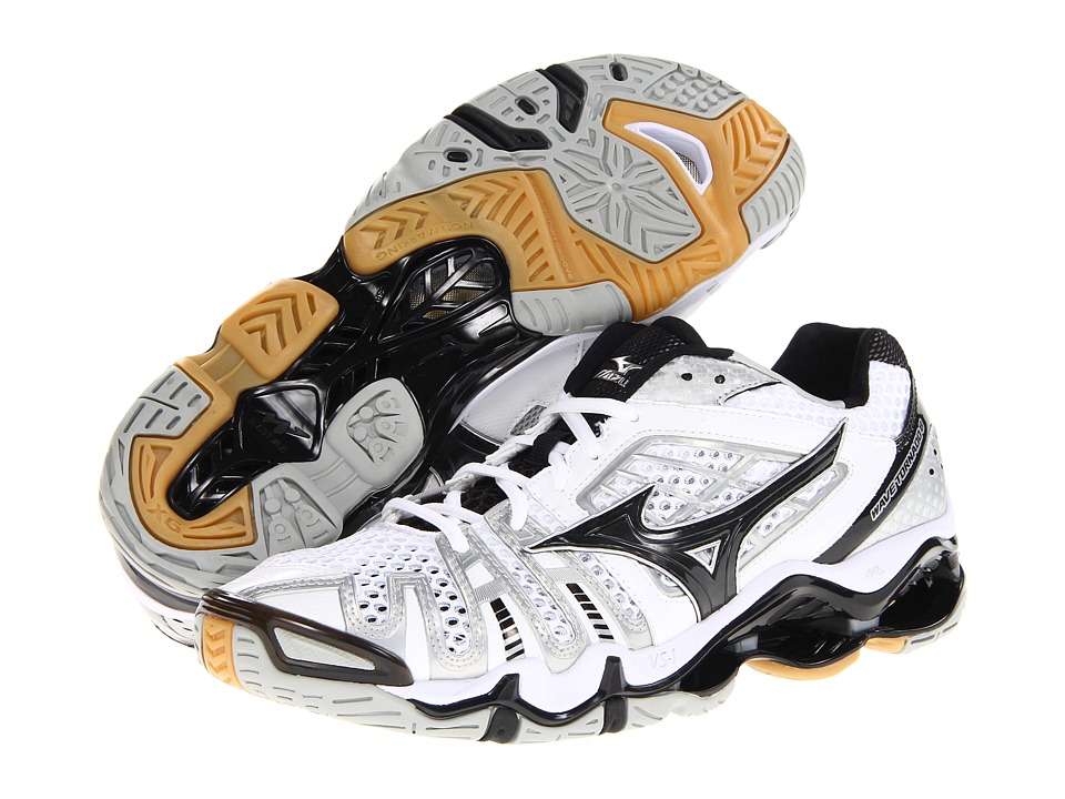 Mizuno - Wave Tornado 8 (White/Black) Men's Volleyball Shoes