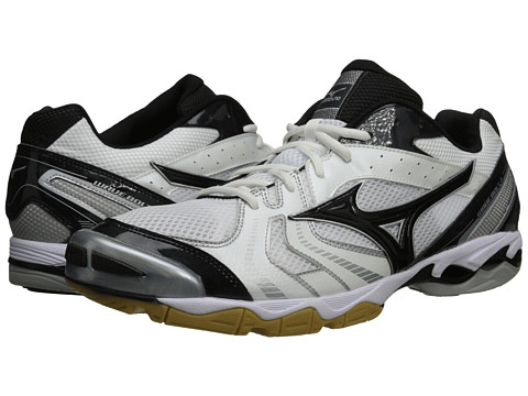 Mizuno - Wave Bolt 2 (White/Black) Men's Volleyball Shoes