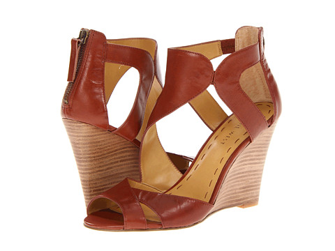 Shop Nine West online and buy Nine West MissFitz Brown Leather Womens Wedge Shoes shoes online