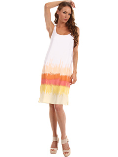 SALE! $201.99 - Save $163 on Tibi Refined Scoop Neck Tank Dress (Calypso Multi) Apparel - 44.66% OFF $365.00