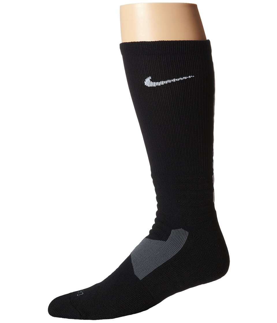Nike - Hyperelite Basketball Crew (Black/White/White) Men's Crew Cut Socks Shoes
