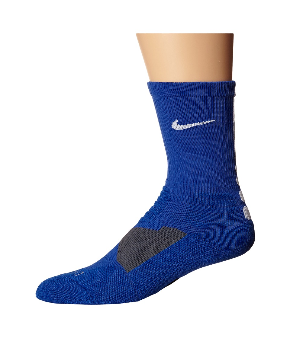Nike - Hyperelite Basketball Crew (Game Royal/White/White) Men's Crew Cut Socks Shoes