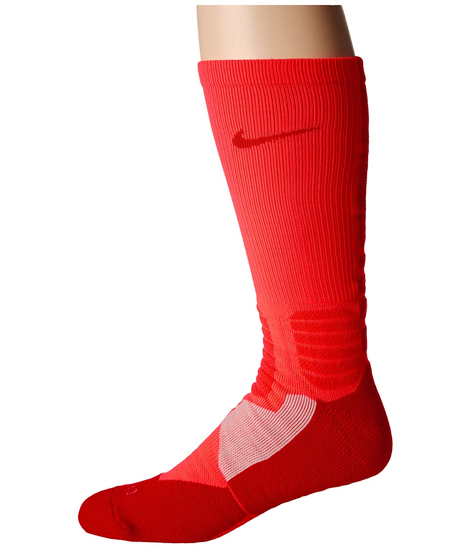 Nike - Hyperelite Basketball Crew (Bright Crimson/University Red/University Red) Men's Crew Cut Socks Shoes