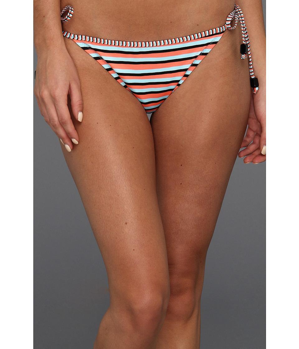 Nanette Lepore - Strobe Light Stripe Vamp Bikini Bottom (Blue Bell) Women