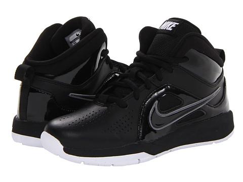 Nike Kids - Team Hustle D 6 (Little Kid) (Black/White/Black) Boys Shoes