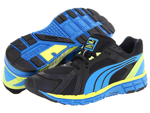 PUMA - Faas 600 S (Black/Brilliant Blue) Men's Shoes