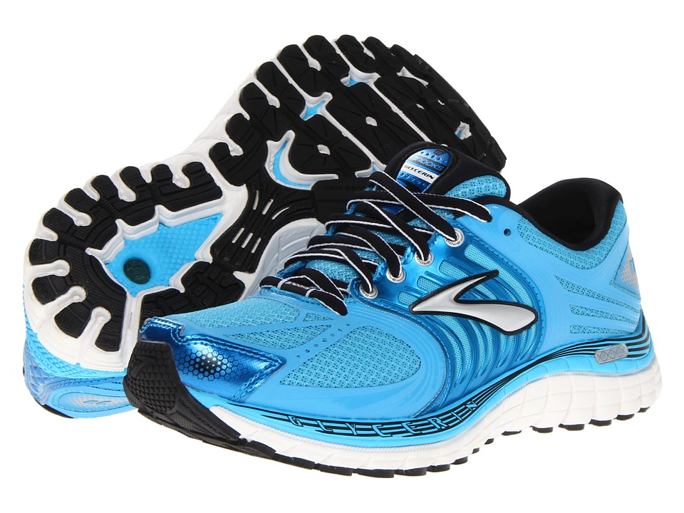Brooks - Glycerin 11 (Aquarius/Dresden Blue/Black/Sivler/Shocking Orange) Women's Running Shoes