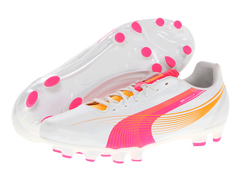 PUMA - evoSPEED 4.2 FG Wn's (Metallic White) Women's Soccer Shoes