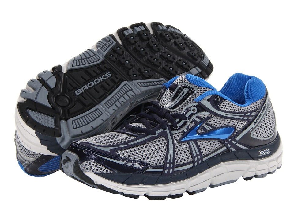 Brooks - Addiction 11 (Silver/Tradewinds/Mood Indigo/Olympic Blue/Lunar Rock/Black) Men's Running Shoes