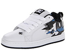 DC - Court Graffik SE (White/Blue/Grey) - Footwear