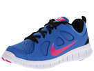 Nike Kids Free Run 5.0 (Little Kid) (Distance Blue/Black/White/Pink Foil)