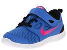 Nike Kids Free Run 5.0 (TDV) (Infant/Toddler) (Distance Blue/Black/White/Pink Foil)