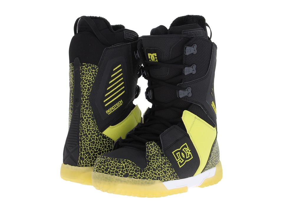 DC - Ceptor (Black/Fluorescent Green) Men's Snow Shoes