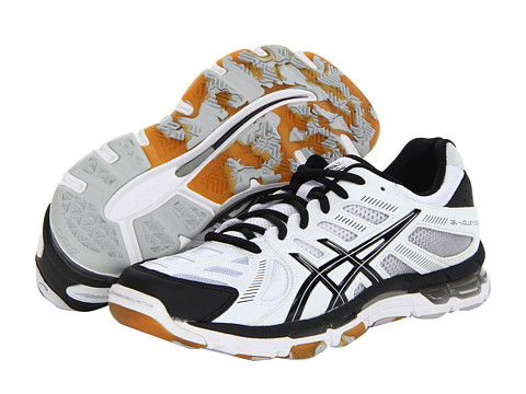 ASICS - GEL-Volleycross Revolution (White/Black/Silver) Women's Volleyball Shoes