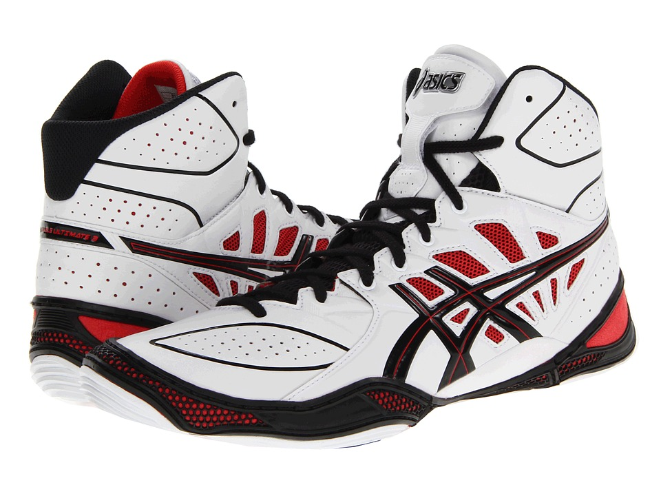 ASICS - Dan Gable Ultimate 3 (White/Black/Red) Men's Wrestling Shoes