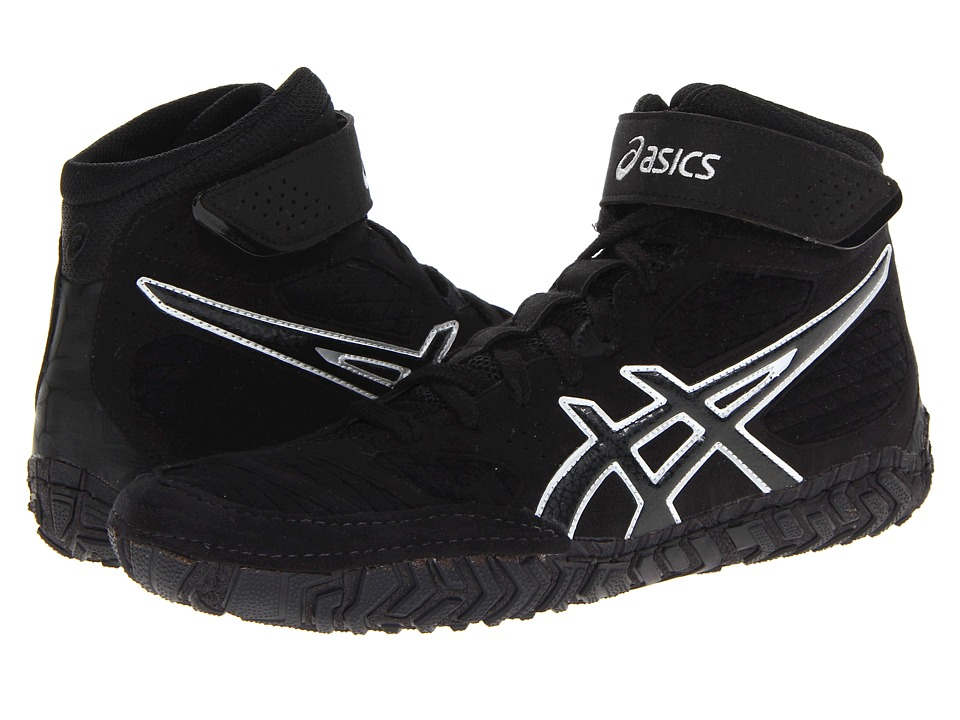 ASICS - Aggressor 2 (Black/Onyx/Silver) Men's Wrestling Shoes
