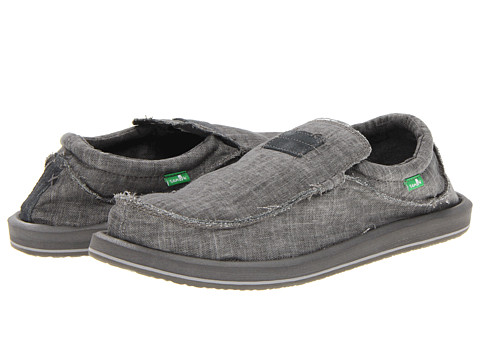 Sanuk - Kyoto (Grey) Men's Slip on Shoes