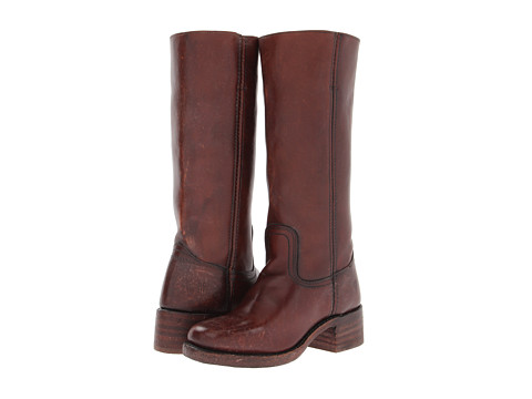 Frye - Campus 14L (Whiskey Polished Stonewash) Cowboy Boots