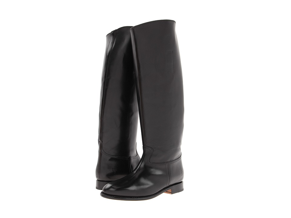 Frye - Abigail Riding (Black Smooth Polished Veg) Cowboy Boots