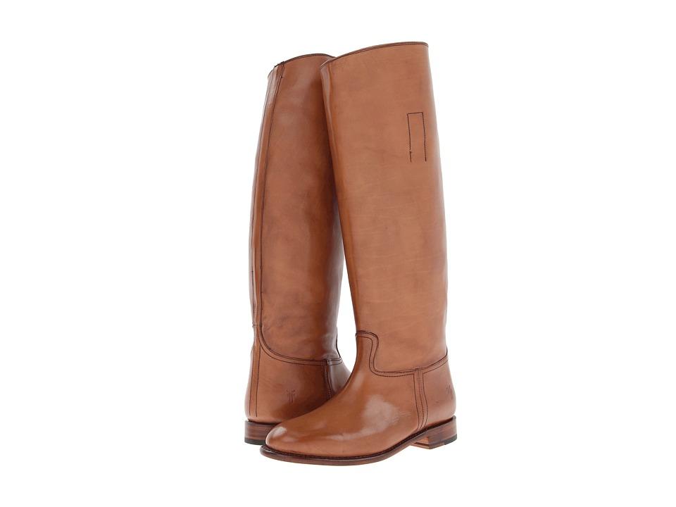 Frye - Abigail Riding (Natural Smooth Polished Veg) Cowboy Boots