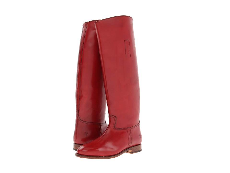 Frye - Abigail Riding (Red Smooth Polished Veg) Cowboy Boots