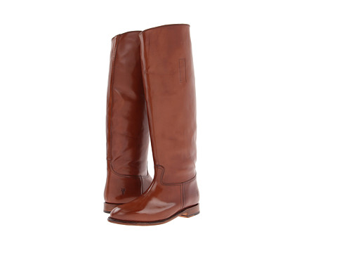 Frye - Abigail Riding (Whiskey Smooth Polished Veg) Cowboy Boots