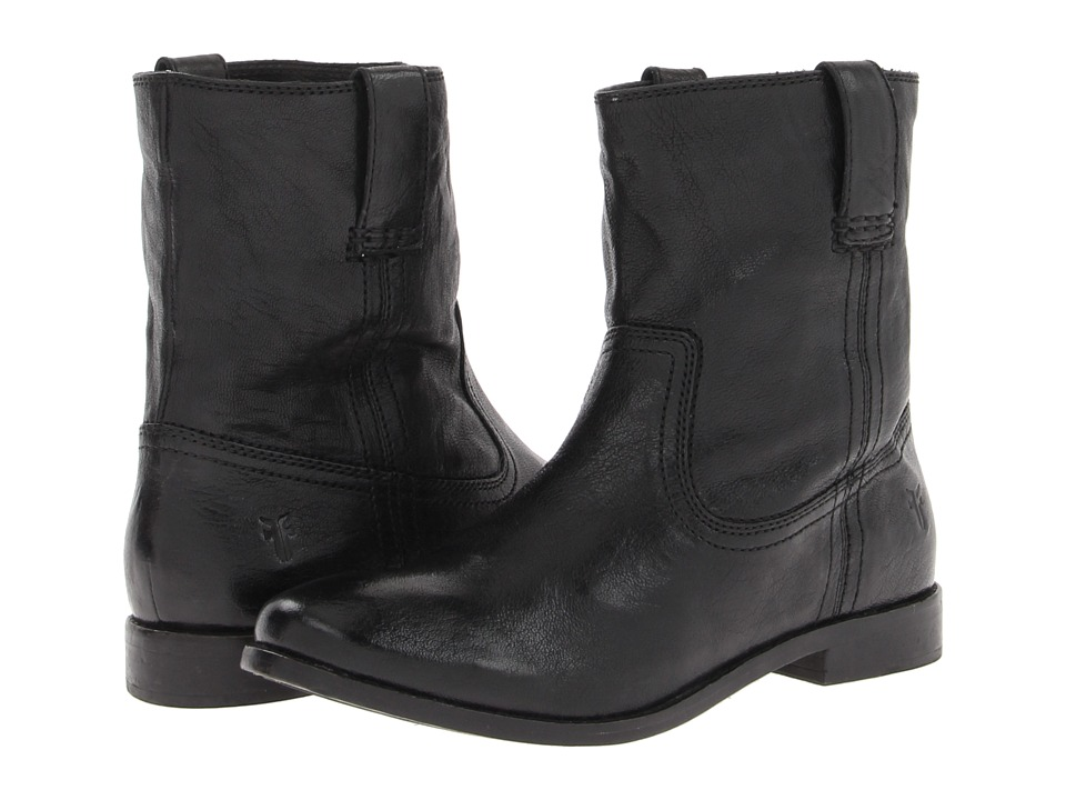 Frye Anna Shortie (Black Antique Soft Vintage) Women