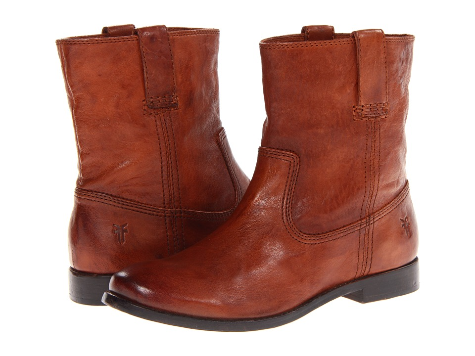Frye - Anna Shortie (Cognac Antique Soft Vintage) Women's Boots