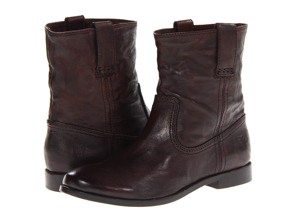 Frye Anna Shortie (Dark Brown Antique Soft Vintage) Women