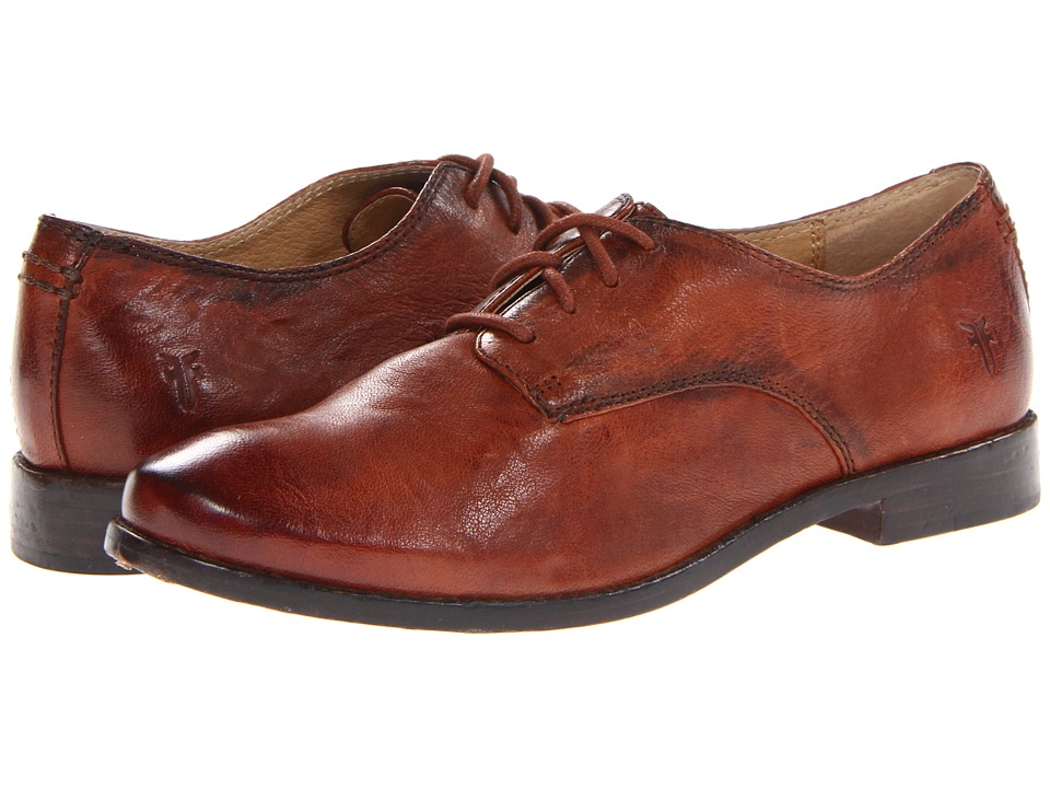 Frye Anna Oxford (Cognac Antique Soft Vintage) High Heels