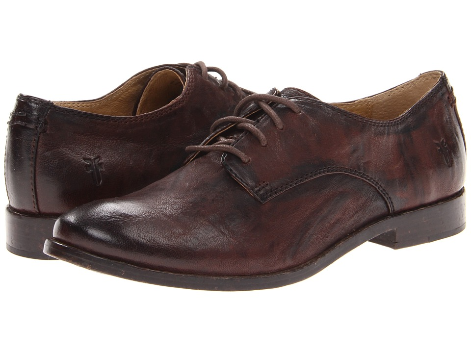 Frye Anna Oxford (Dark Brown Antique Soft Vintage) High Heels