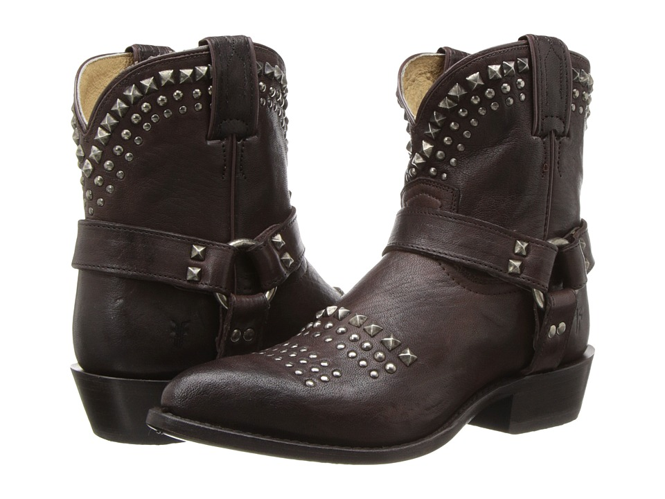 Frye - Billy Biker Short (Dark Brown Antique Soft Vintage) Women's Boots