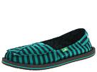 Sanuk Castaway (Teal/Black) Women's Slip on Shoes