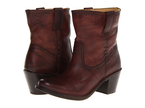 Frye - Carmen X Stitch Short (Walnut Dakota) Cowboy Boots