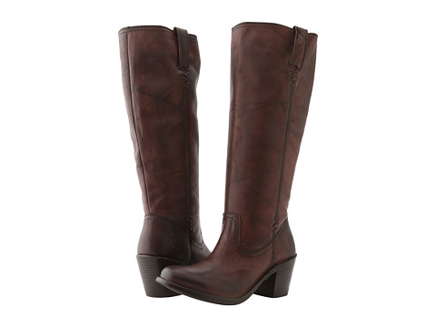 Frye - Carmen X Stitch Tall (Walnut Dakota) Women's Pull-on Boots