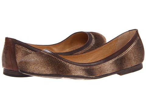 Frye - Carson Ballet (Taupe Haircalf) Women's Flat Shoes