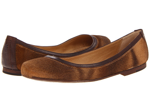 Frye - Carson Ballet (Cognac Haircalf) Women's Flat Shoes
