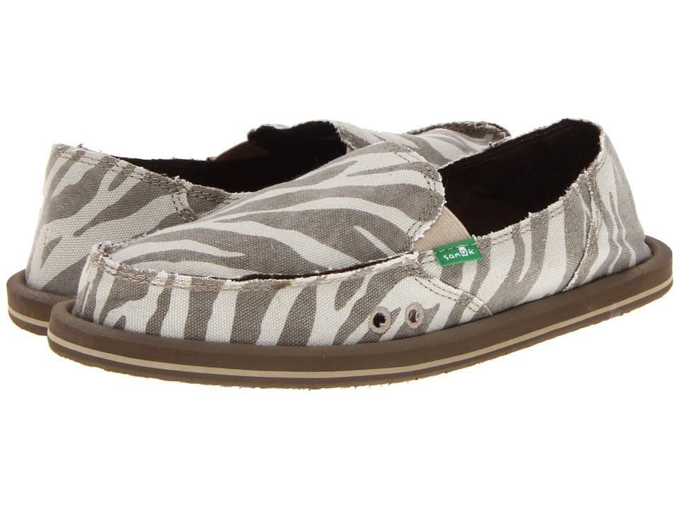Sanuk - I'm Game (Zebra Natural) Women's Slip on  Shoes