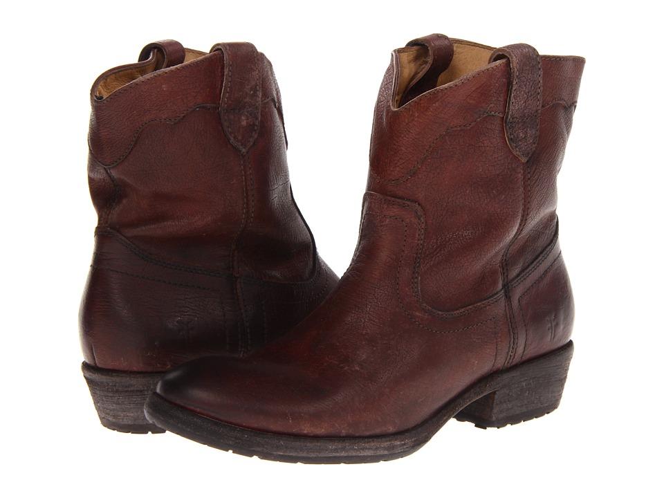 Frye - Carson Lug Short (Dark Brown Stone Antiqued) Cowboy Boots
