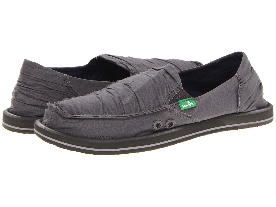 Sanuk - Shuffle (Charcoal) Women's Skate Shoes