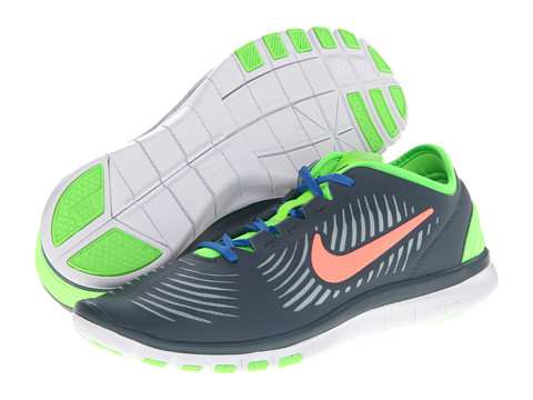Nike Free Edge TR (Armory Slate/Light Armory Blue/Flash Lime/Atomic Pink) Women's Cross Training Shoes