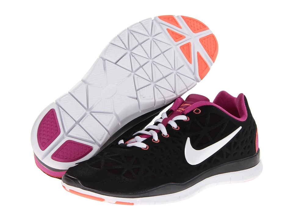 Nike - Free TR Fit 3 (Black/Club Pink/Atomic Pink/Metallic Summit White) Women's Cross Training Shoes